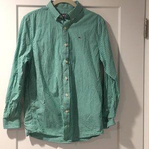 Vineyard Vines Shirts & Tops - Vineyard Vines Green & White Gingham Shirt!